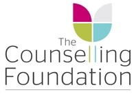 The Counselling Foundation logo - pink, grey, green and blue
