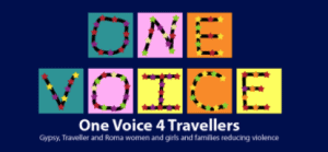 Blue, pink, orange and yellow logo for One Voice 4 Travellers