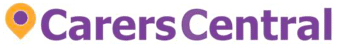 Purple and orange logo for Carers Central