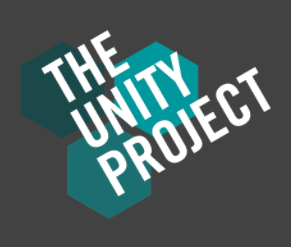 Blue and grey logo for The Unity Project