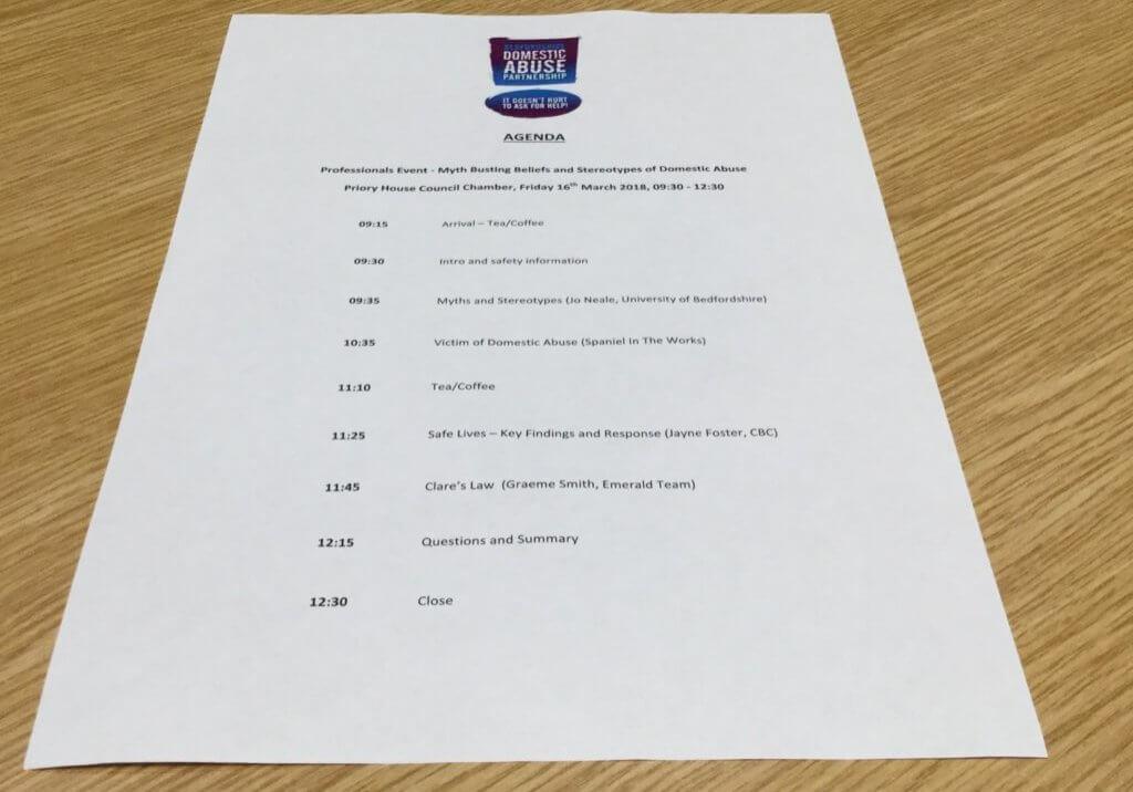 Professionals event - agenda